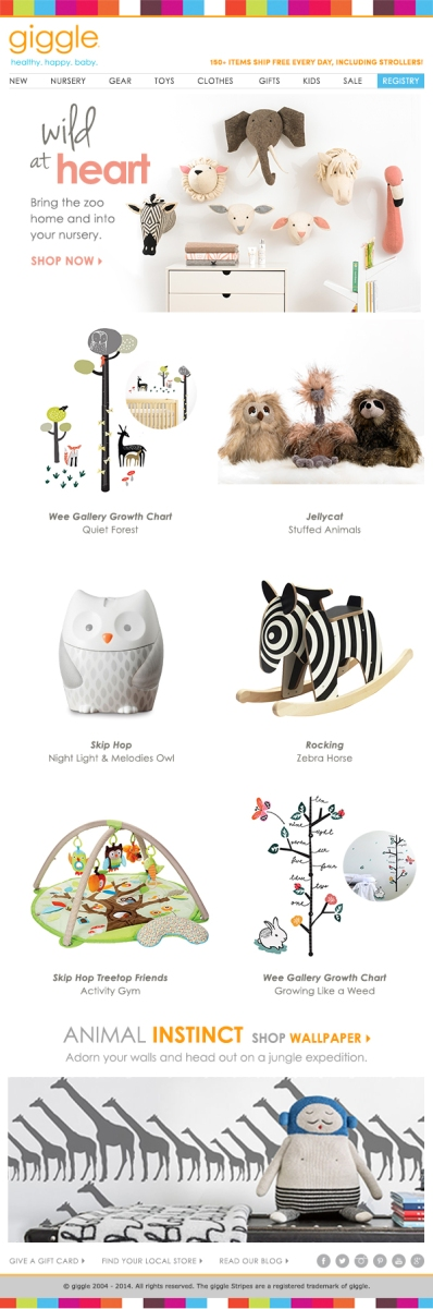 Nursery Email Campaign for giggle