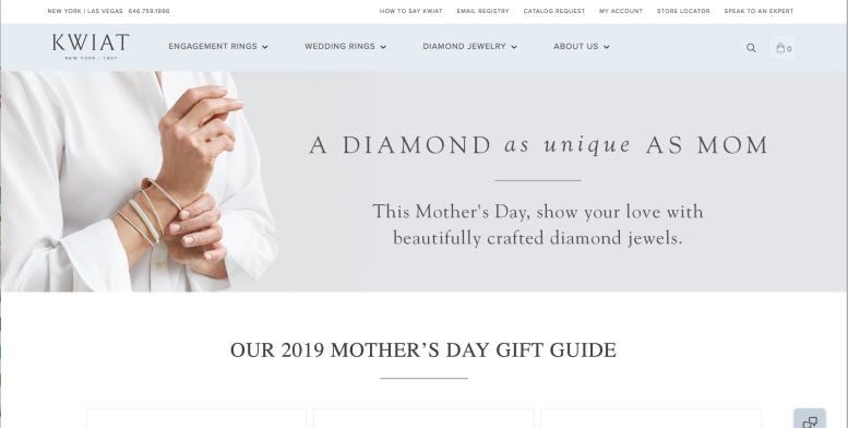 Kwiat Mother's Day Landing Page Banner